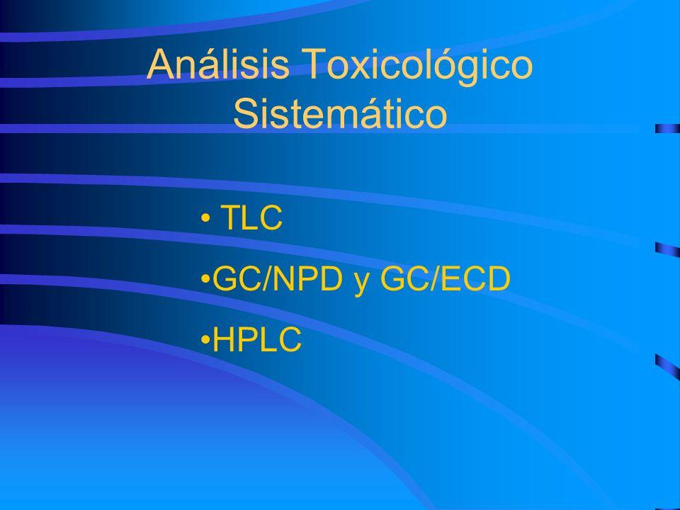 Análisis Toxicológico Sistemático