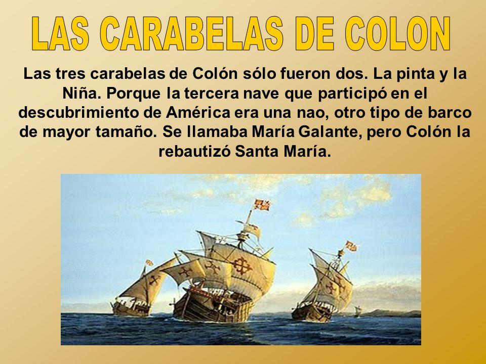 LAS CARABELAS DE COLON