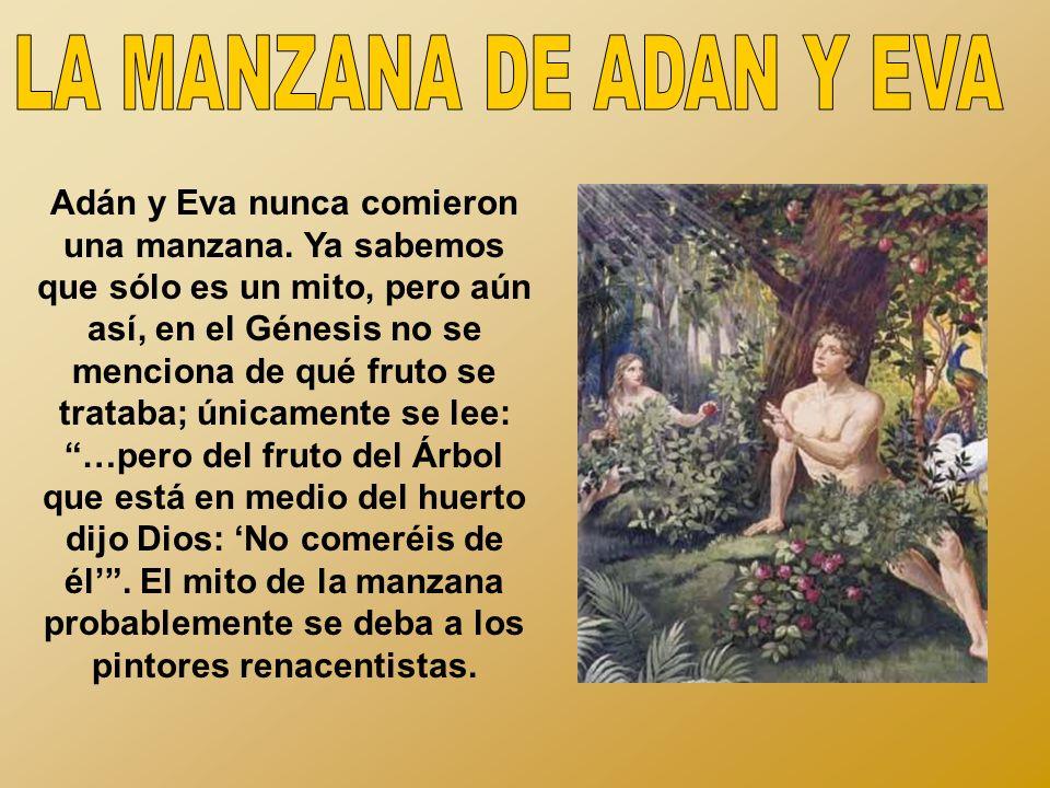 LA MANZANA DE ADAN Y EVA