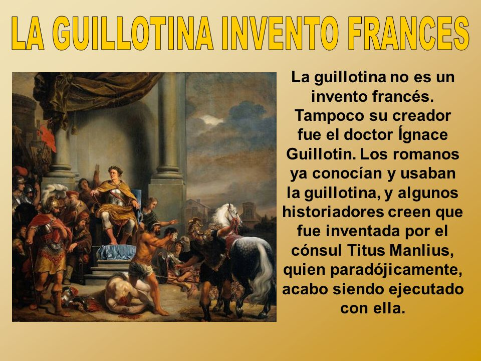 LA GUILLOTINA INVENTO FRANCES