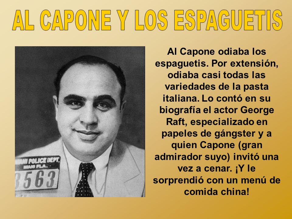 AL CAPONE Y LOS ESPAGUETIS