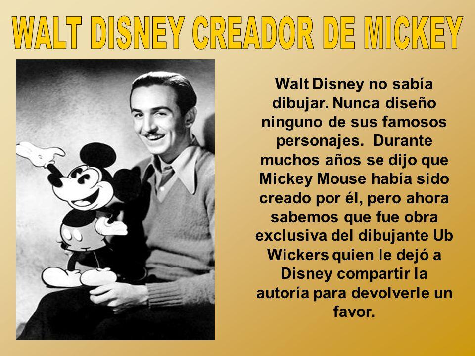 WALT DISNEY CREADOR DE MICKEY