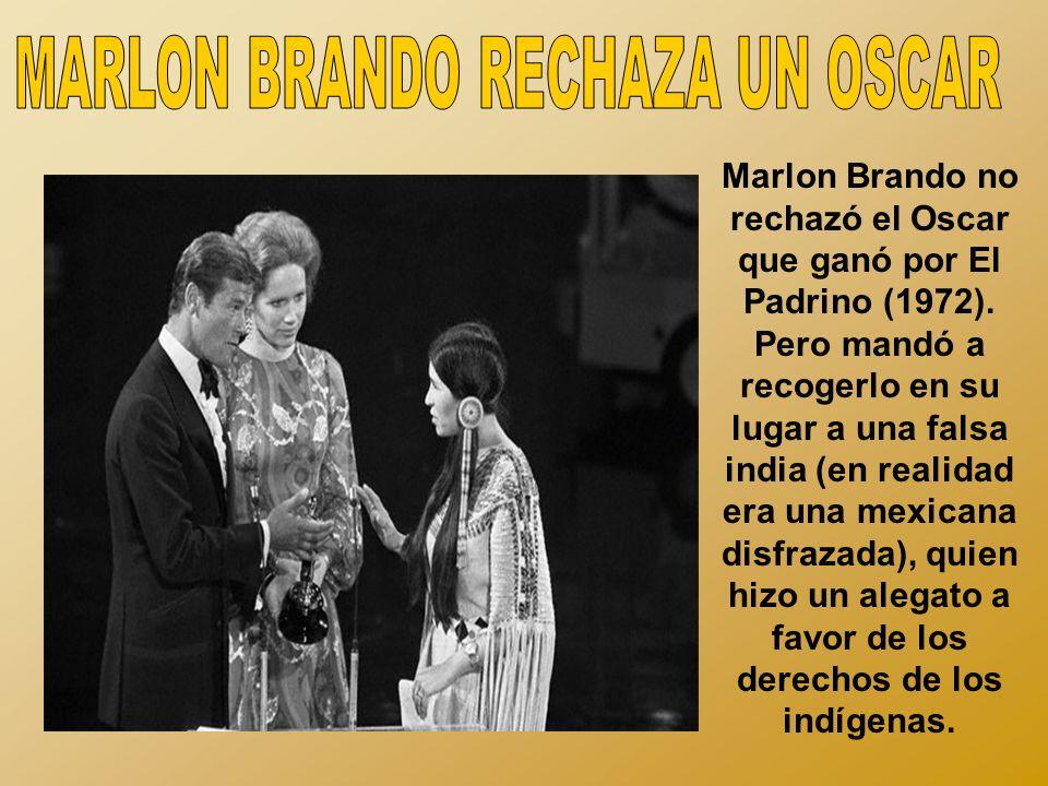 MARLON BRANDO RECHAZA UN OSCAR