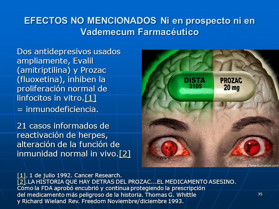 EFECTOS NO MENCIONADOS Ni en prospecto ni en Vademecum Farmacéutico