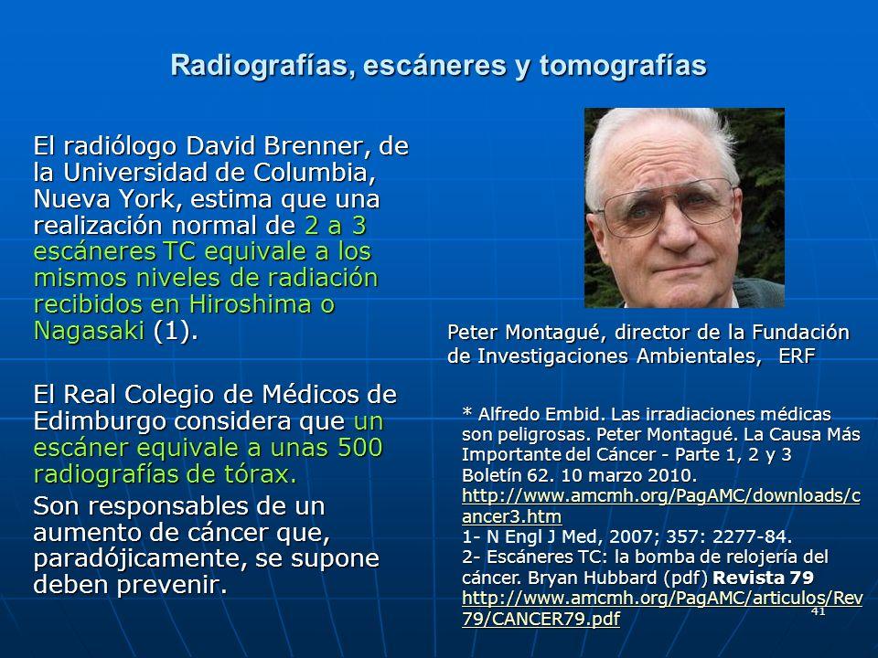Radiografías, escáneres y tomografías