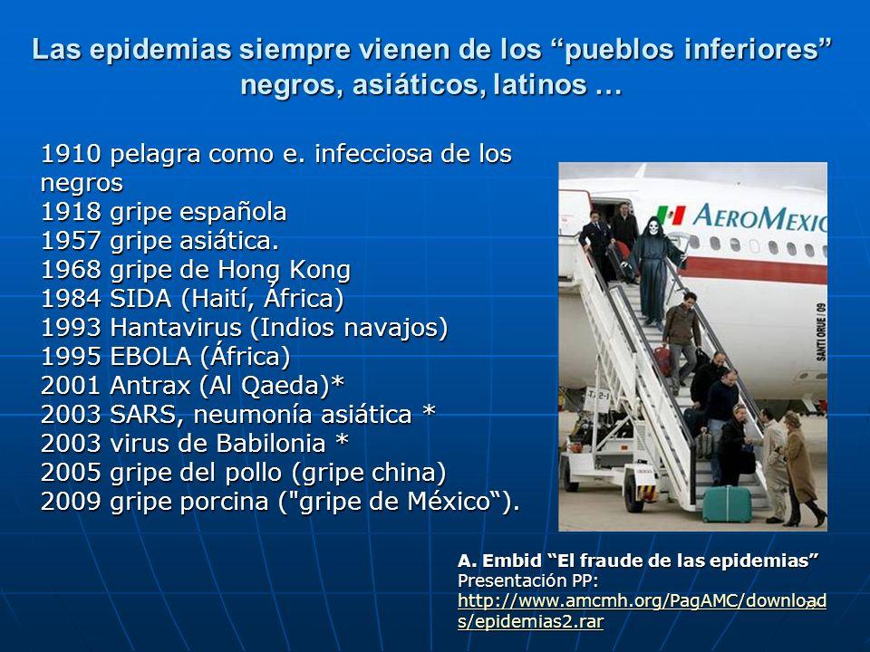 Las epidemias siempre vienen de los pueblos inferiores negros, asiáticos, latinos …