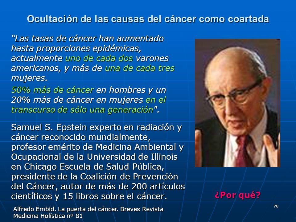 Ocultación de las causas del cáncer como coartada