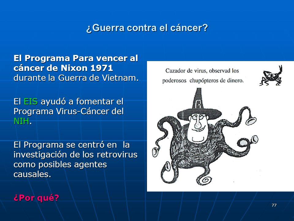 ¿Guerra contra el cáncer
