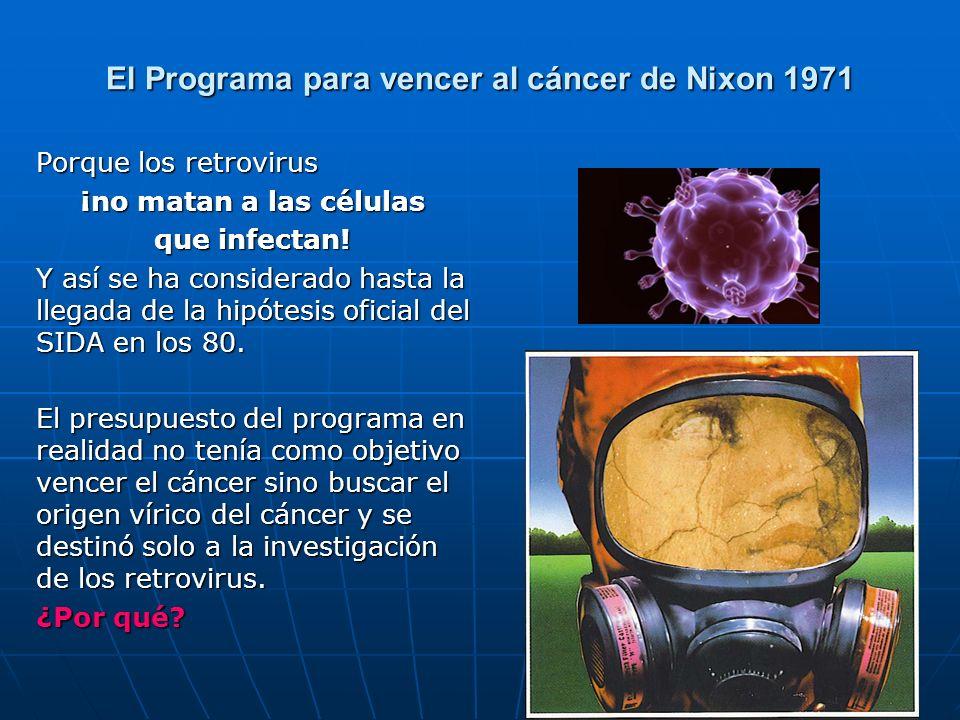 El Programa para vencer al cáncer de Nixon 1971