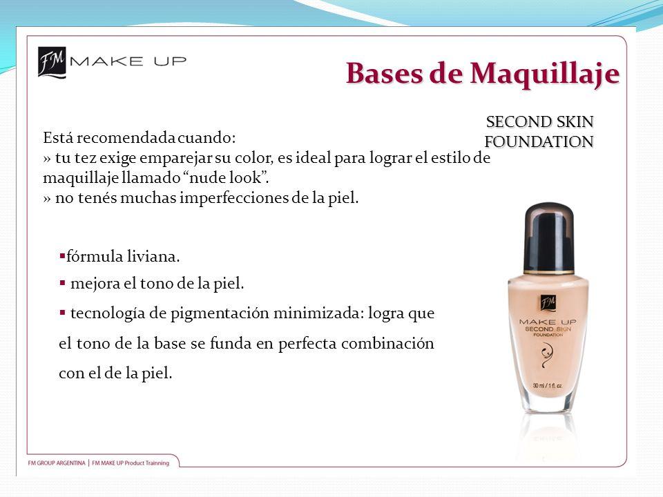 Bases de Maquillaje SECOND SKIN FOUNDATION Está recomendada cuando: