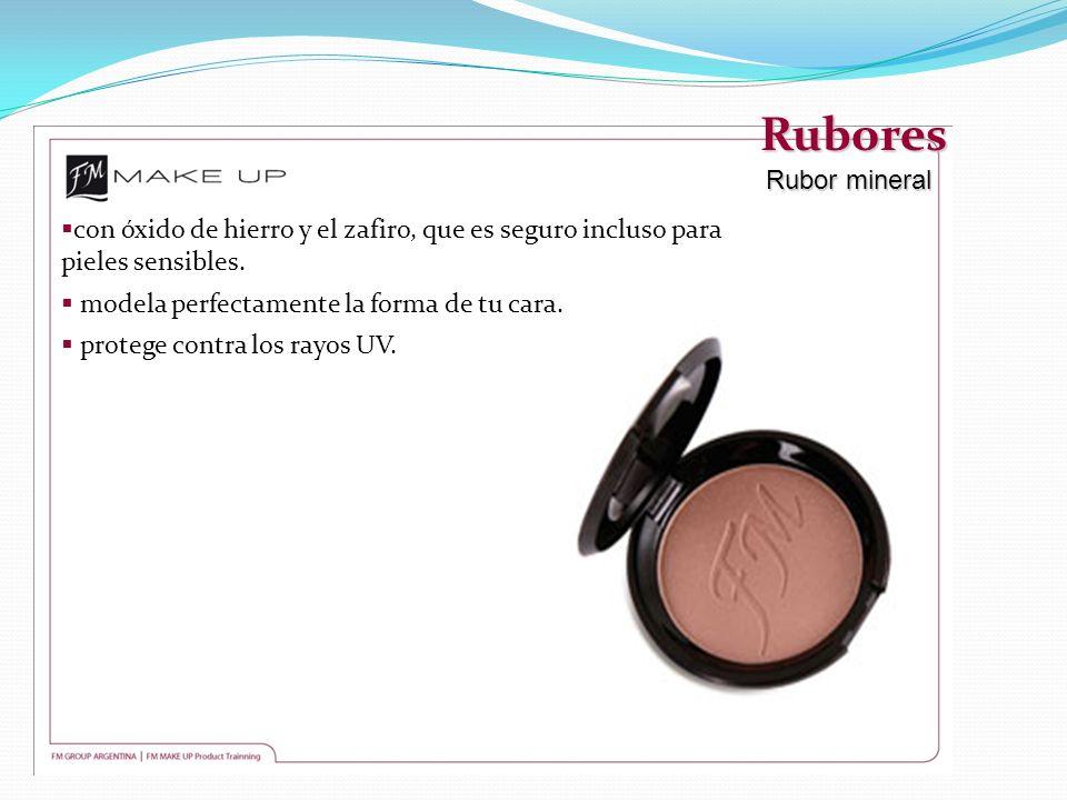 Rubores Rubor mineral. con óxido de hierro y el zafiro, que es seguro incluso para pieles sensibles.