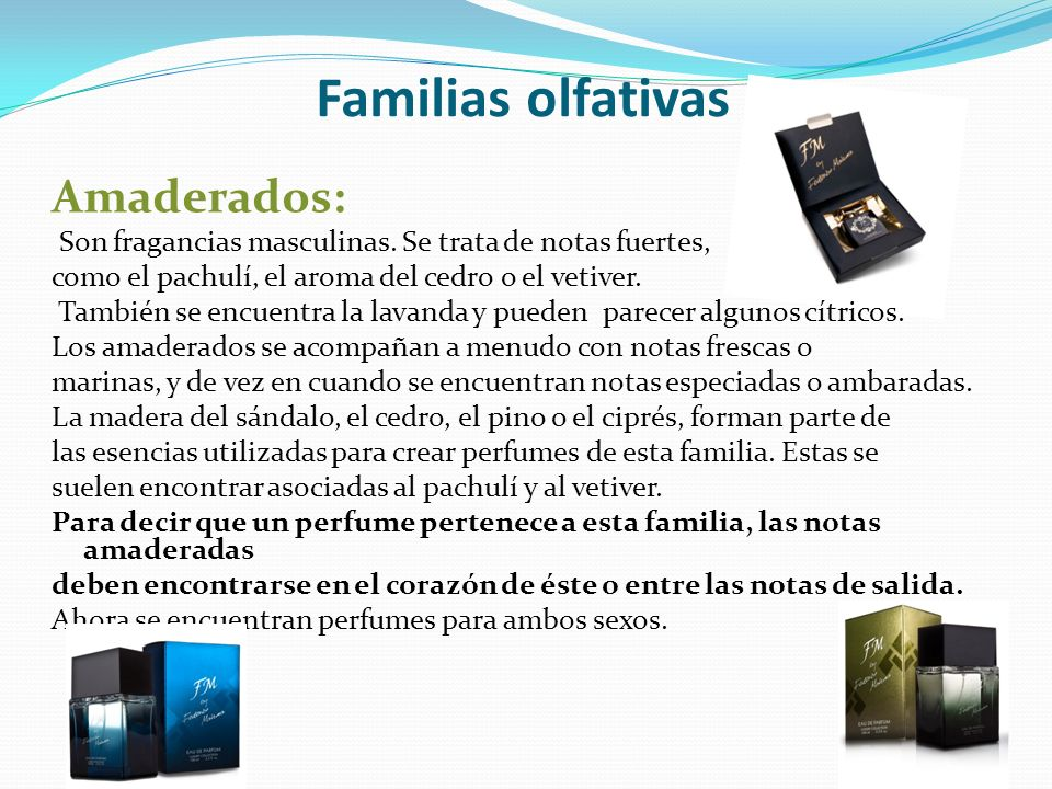 Familias olfativas Amaderados: