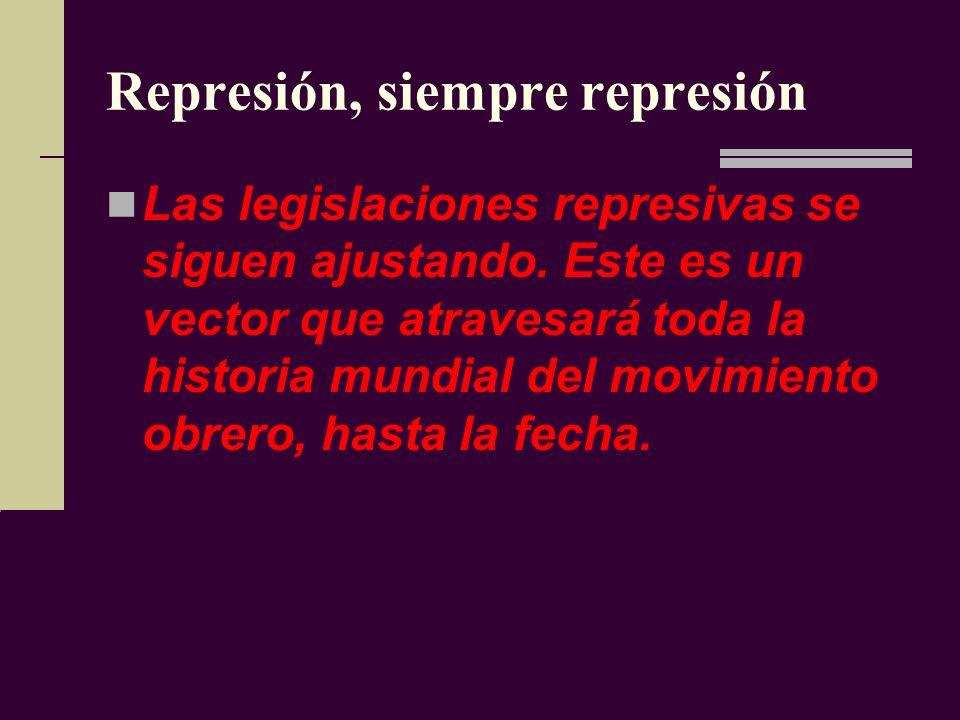 Represión, siempre represión
