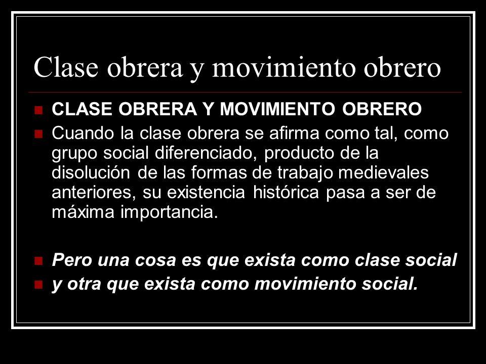 Clase obrera y movimiento obrero