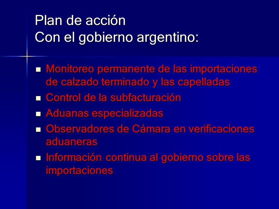 Plan de acción Con el gobierno argentino: