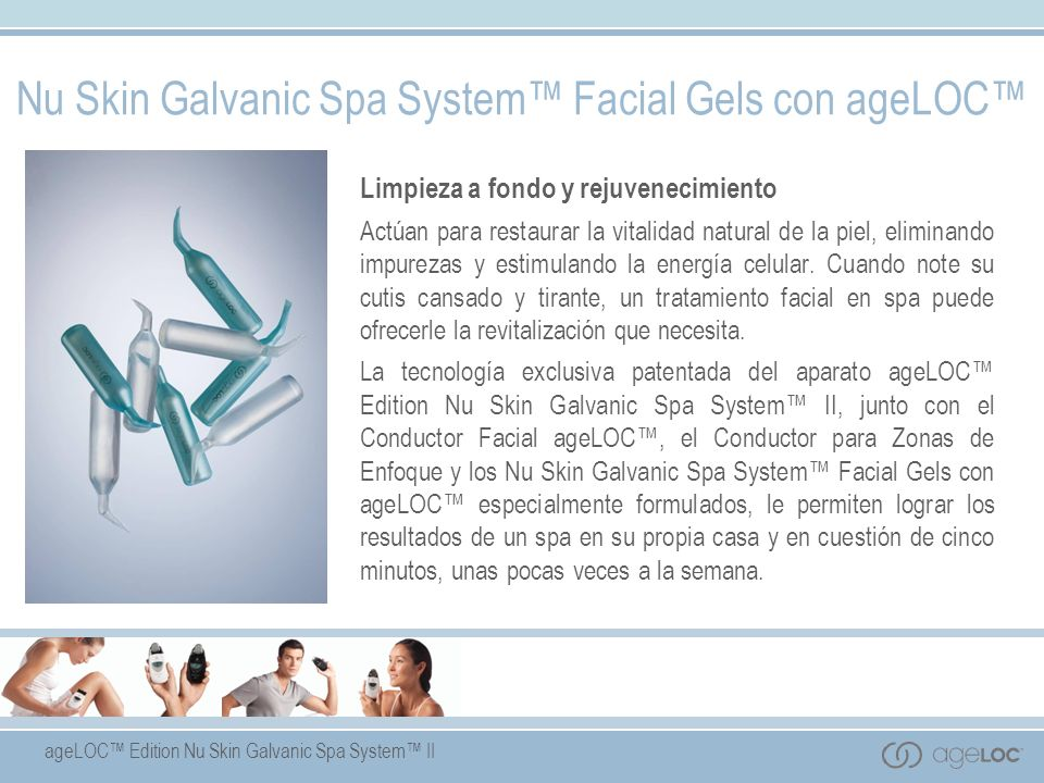 Nu Skin Galvanic Spa System™ Facial Gels con ageLOC™