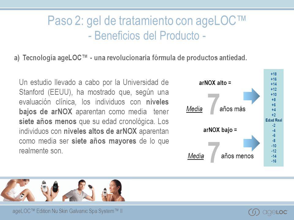 7 Paso 2: gel de tratamiento con ageLOC™ - Beneficios del Producto -