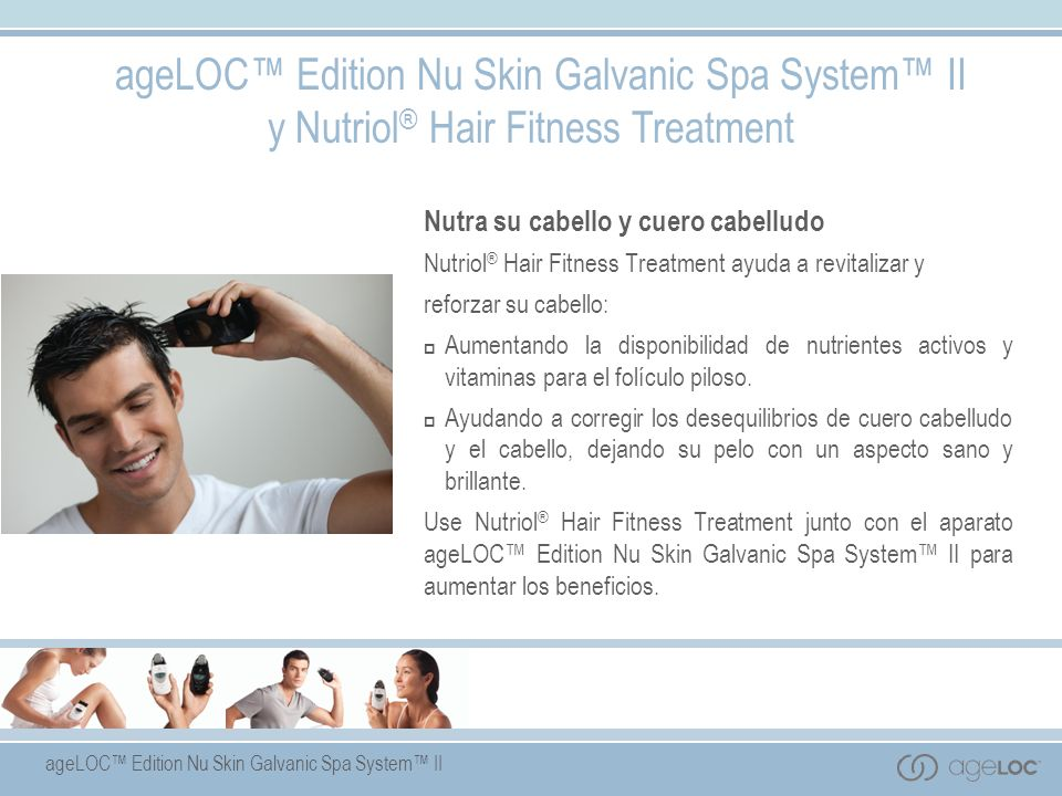 ageLOC™ Edition Nu Skin Galvanic Spa System™ II y Nutriol® Hair Fitness Treatment