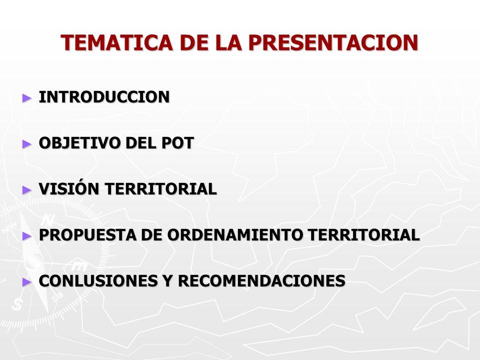 TEMATICA DE LA PRESENTACION