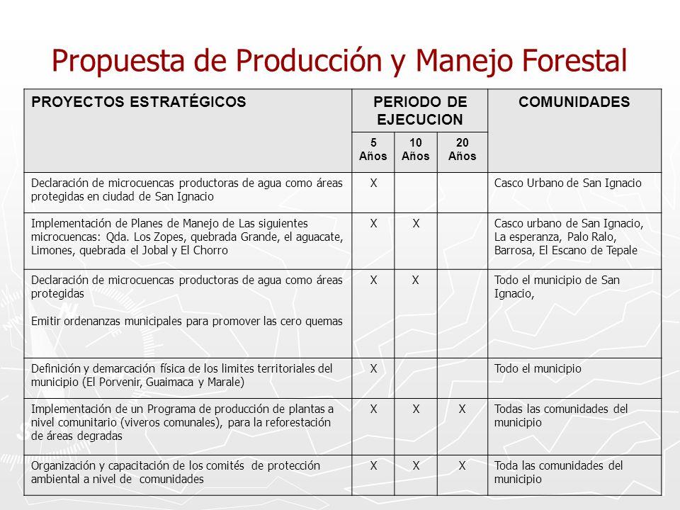 Propuesta de Producción y Manejo Forestal