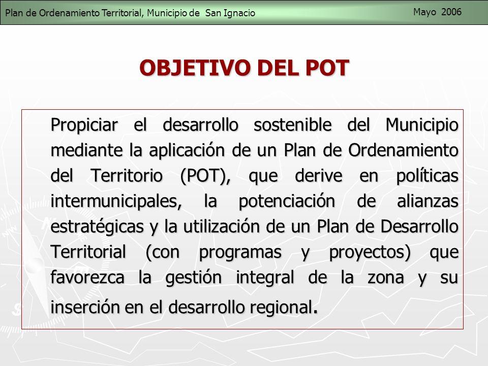Plan de Ordenamiento Territorial, Municipio de San Ignacio