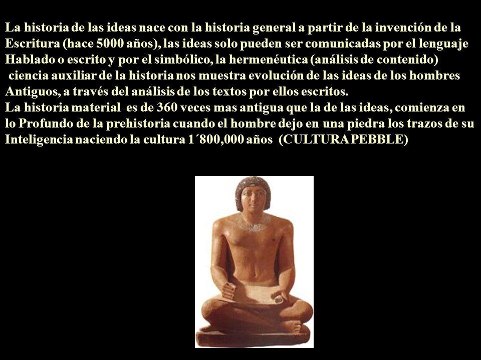 La historia de las ideas nace con la historia general a partir de la invención de la