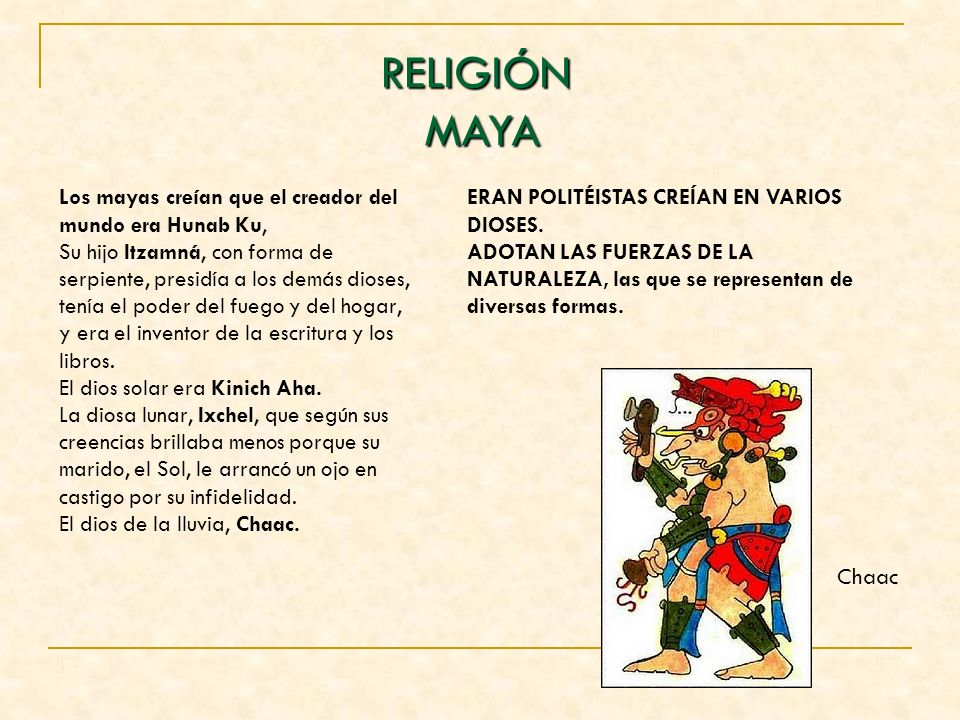 RELIGIÓN MAYA.