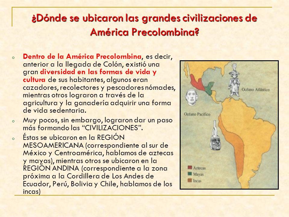 ¿Dónde se ubicaron las grandes civilizaciones de América Precolombina
