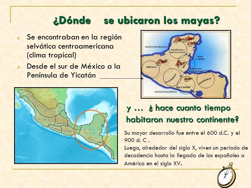 ¿Dónde se ubicaron los mayas