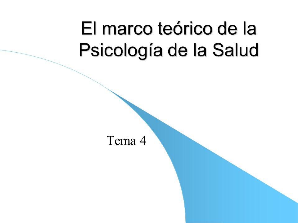 El marco teórico de la Psicología de la Salud