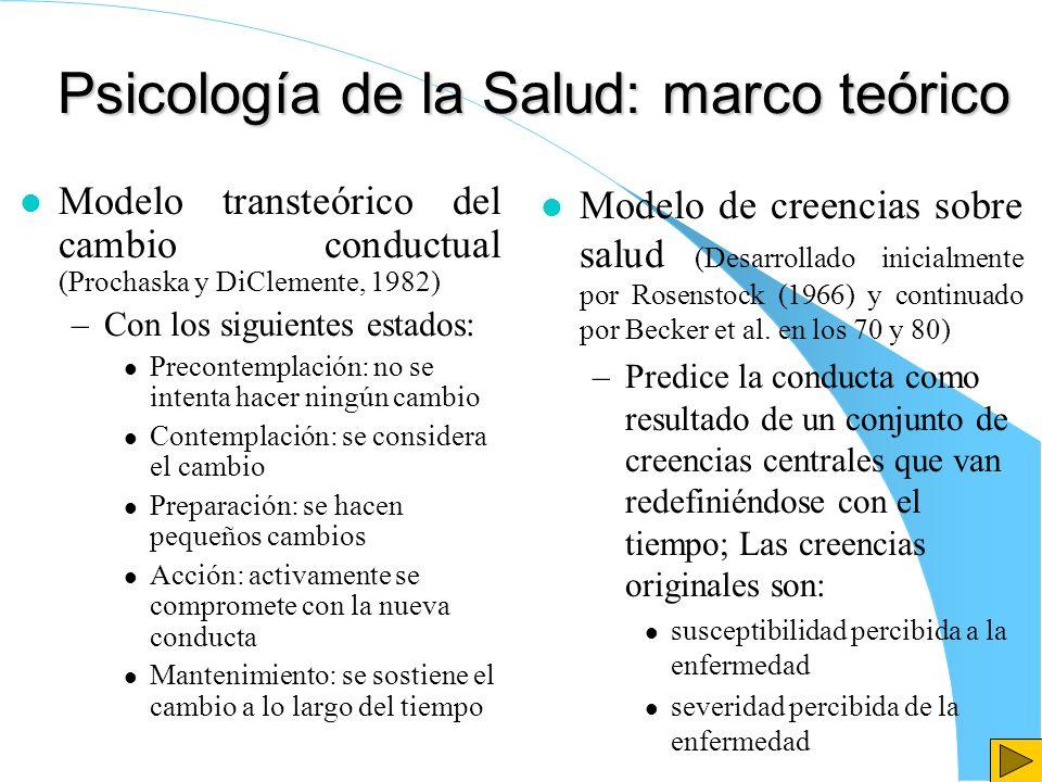 Psicología de la Salud: marco teórico