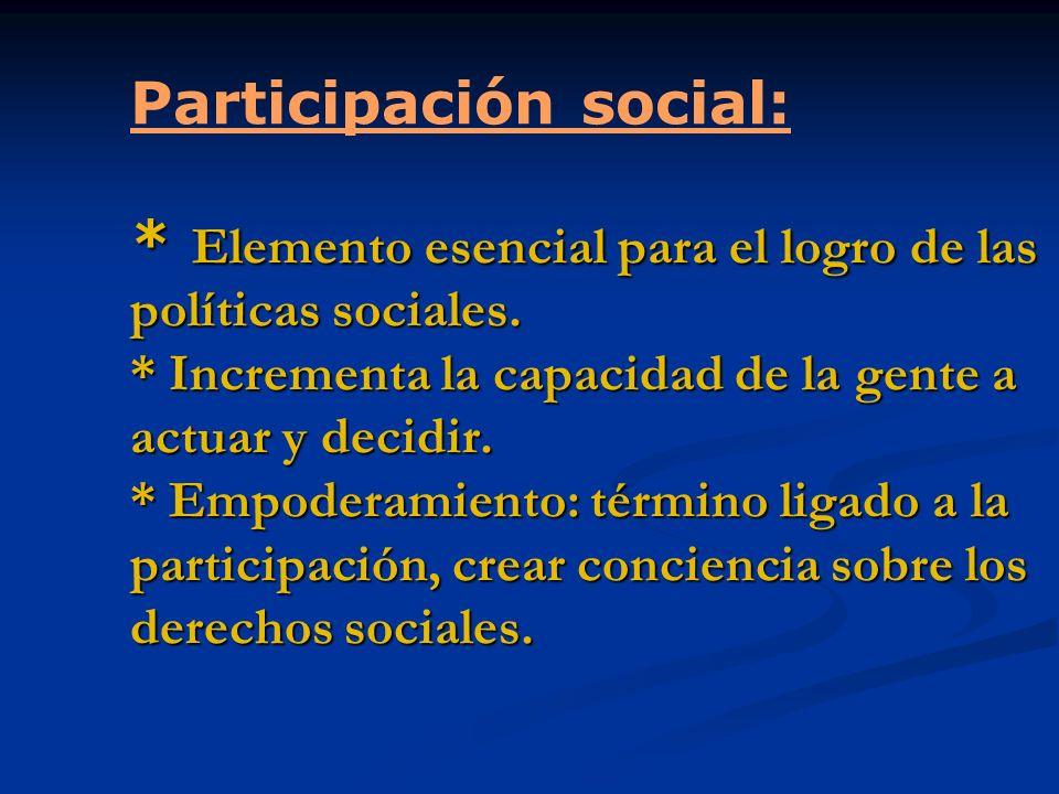 Participación social: