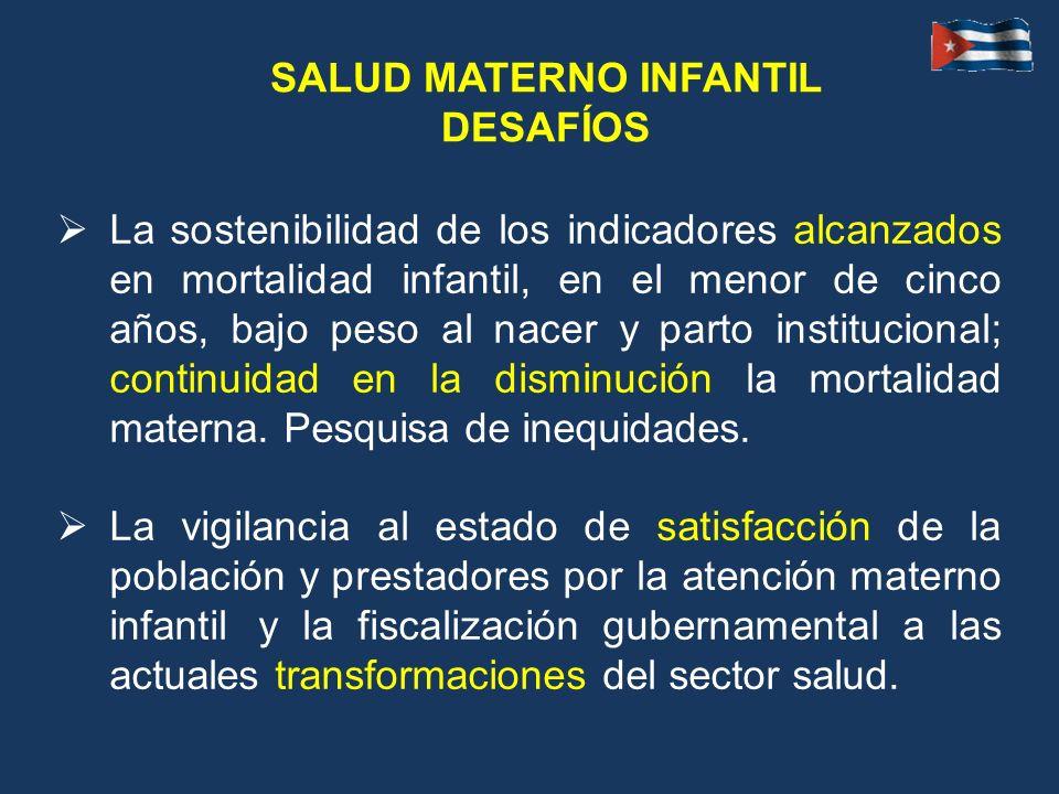 SALUD MATERNO INFANTIL