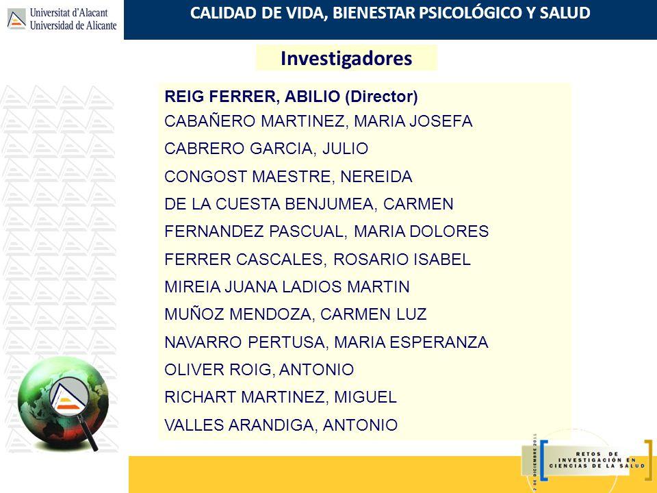 Investigadores REIG FERRER, ABILIO (Director)