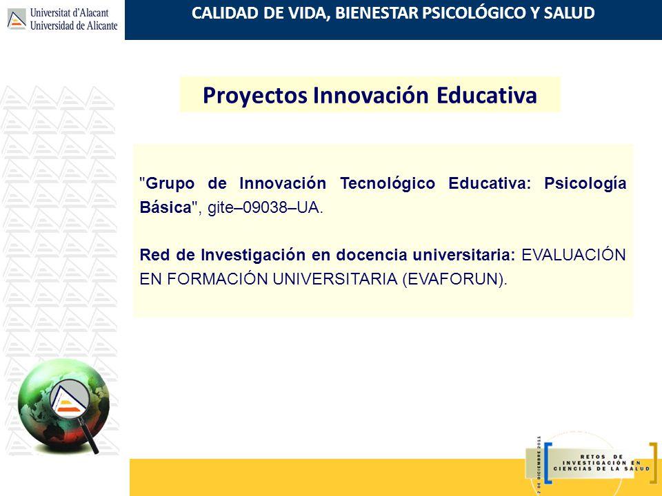 Proyectos Innovación Educativa