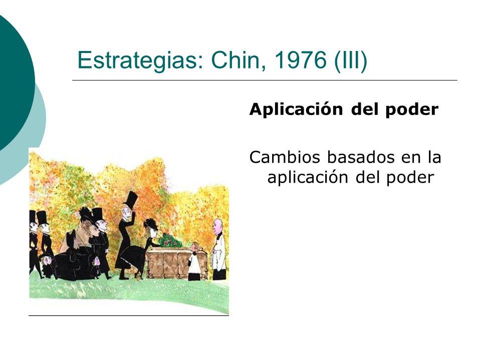 Estrategias: Chin, 1976 (III)