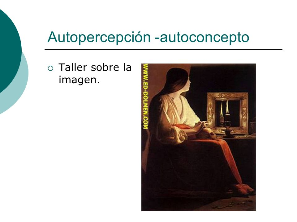Autopercepción -autoconcepto