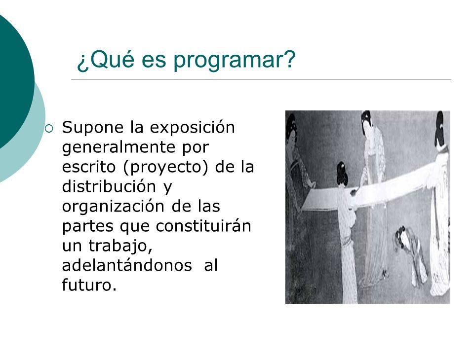 ¿Qué es programar