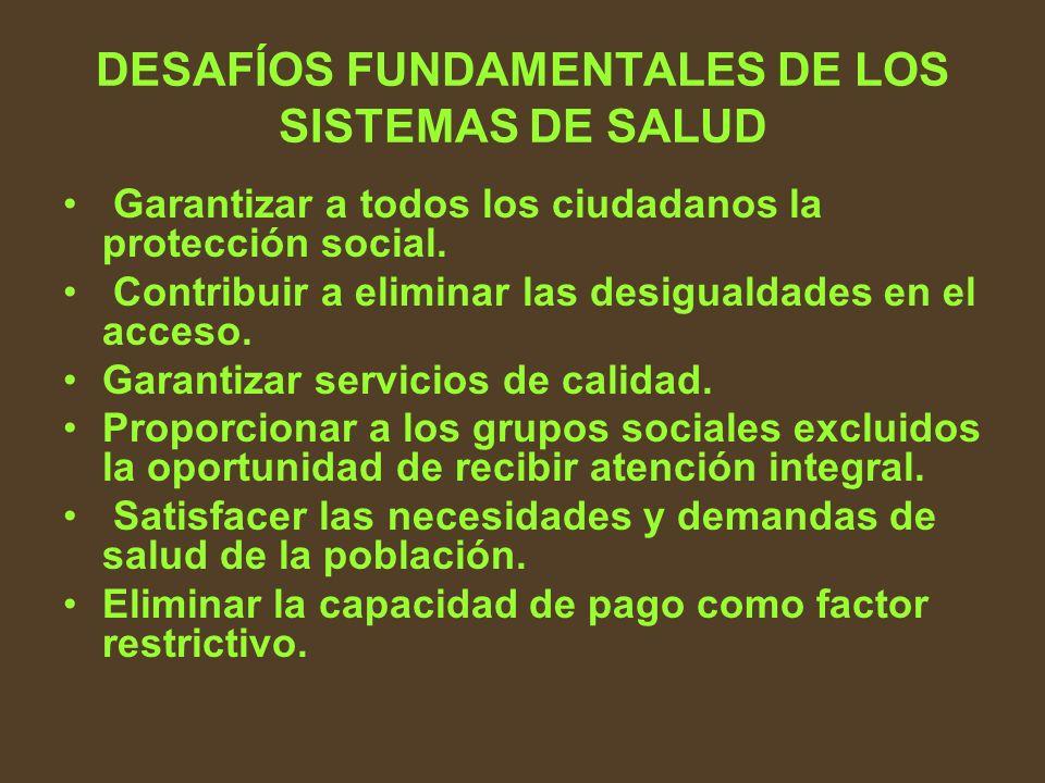 DESAFÍOS FUNDAMENTALES DE LOS SISTEMAS DE SALUD