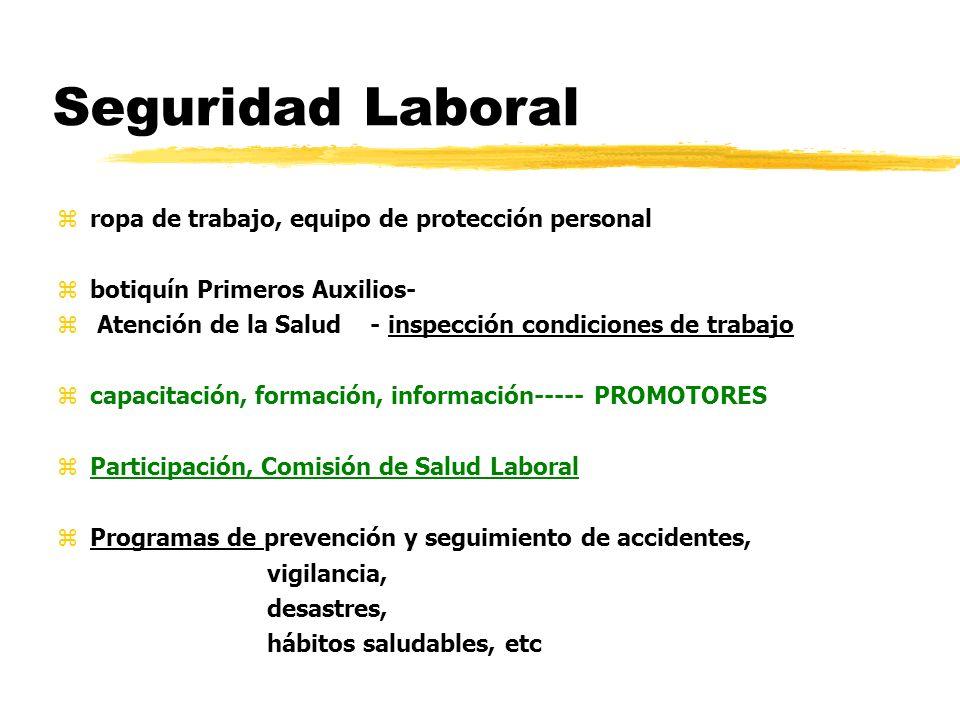 Seguridad Laboral ropa de trabajo, equipo de protección personal