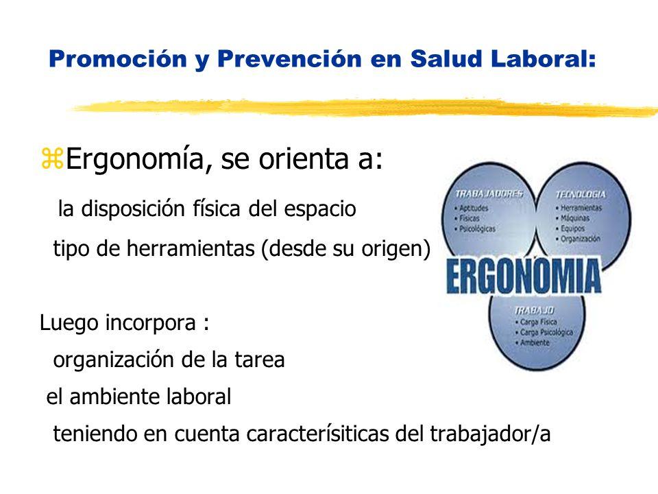 Promoción y Prevención en Salud Laboral: