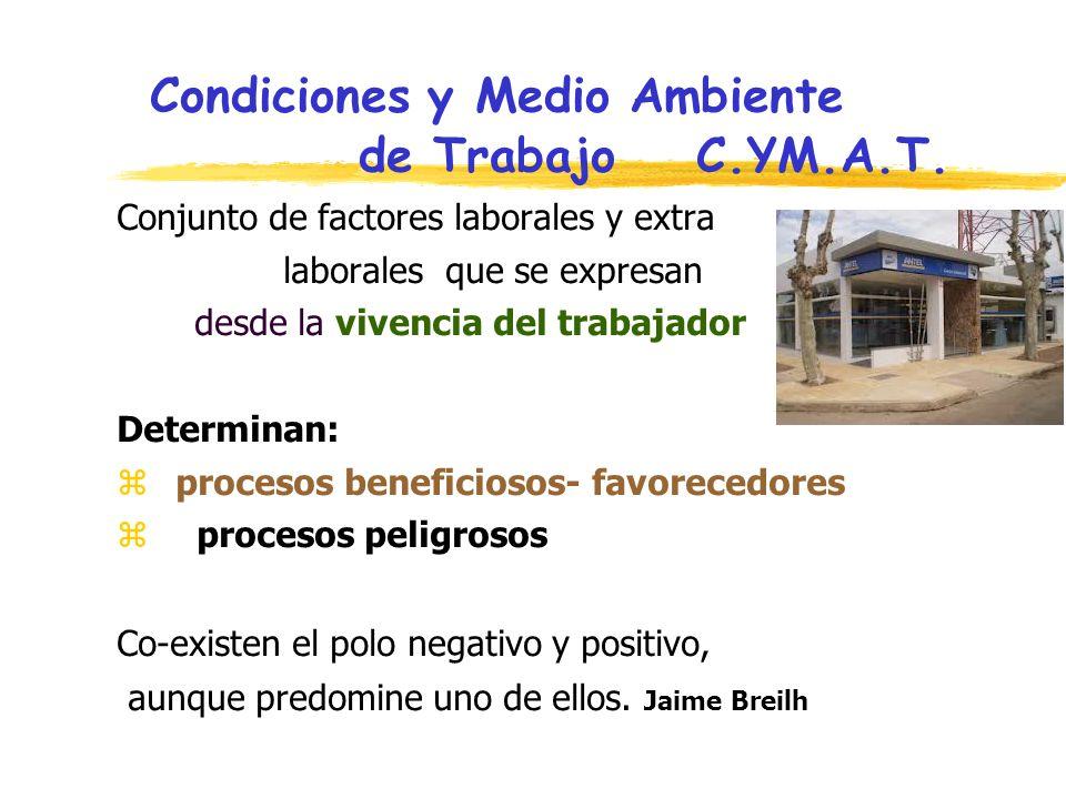 Condiciones y Medio Ambiente de Trabajo C.YM.A.T.