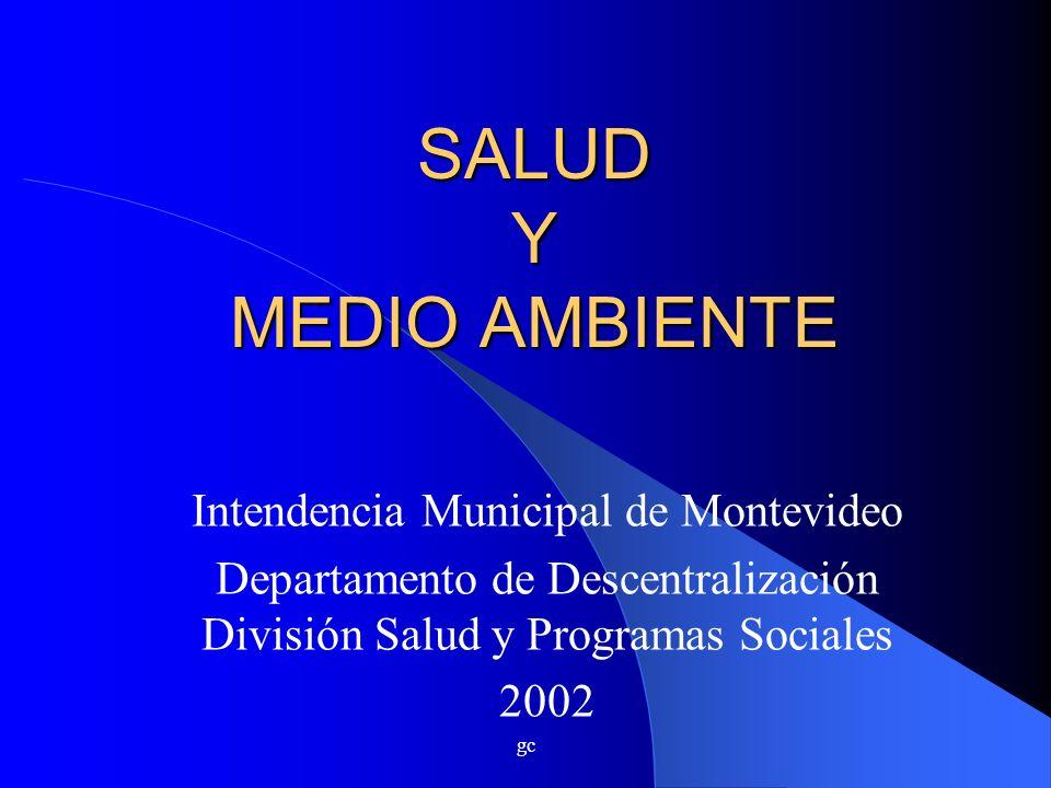 SALUD Y MEDIO AMBIENTE Intendencia Municipal de Montevideo