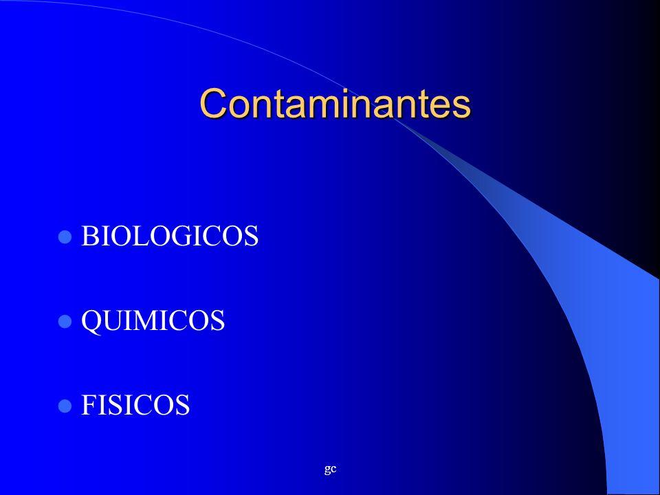 Contaminantes BIOLOGICOS QUIMICOS FISICOS gc