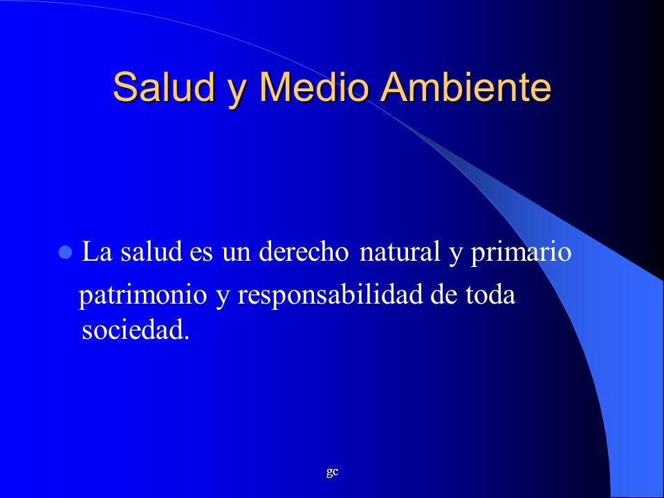 Salud y Medio Ambiente La salud es un derecho natural y primario