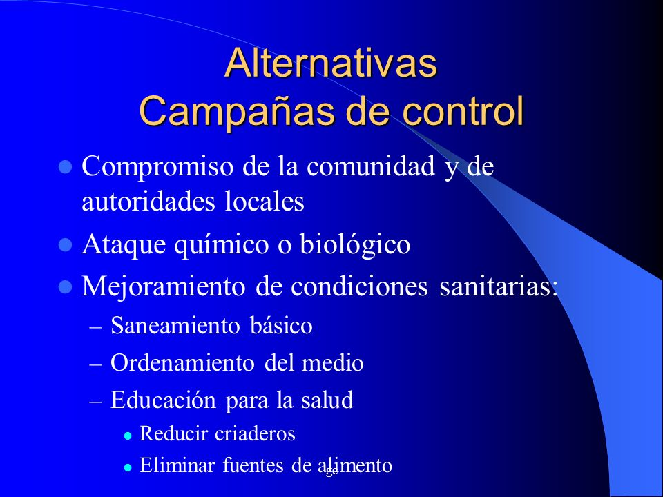 Alternativas Campañas de control