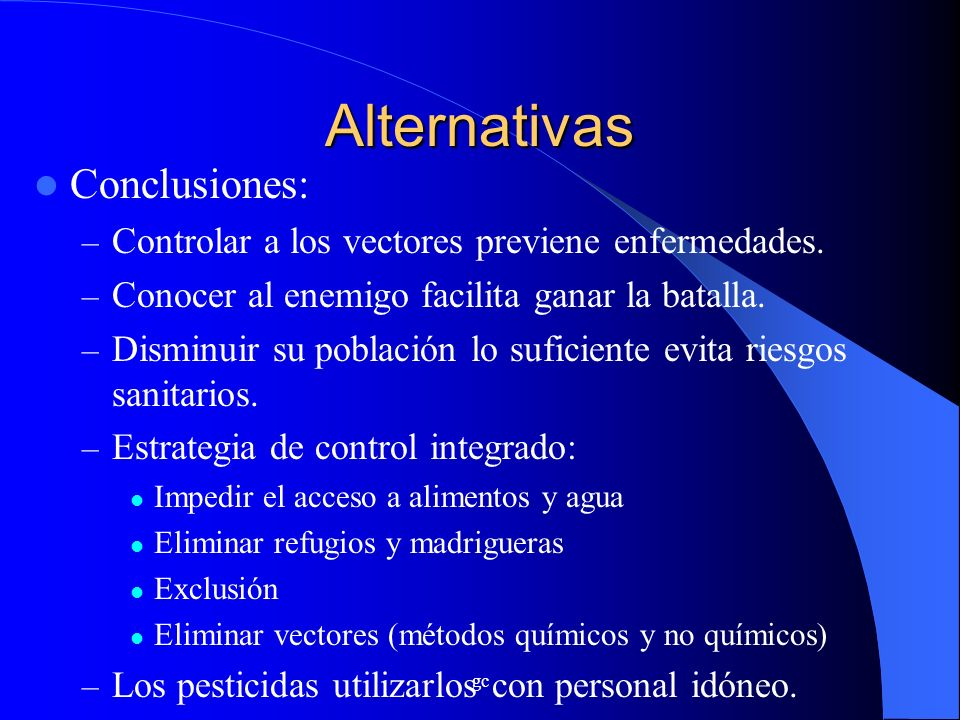 Alternativas Conclusiones: