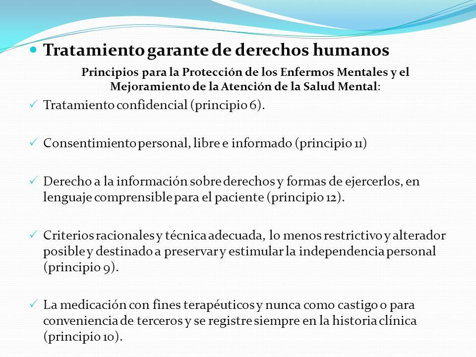 Tratamiento garante de derechos humanos