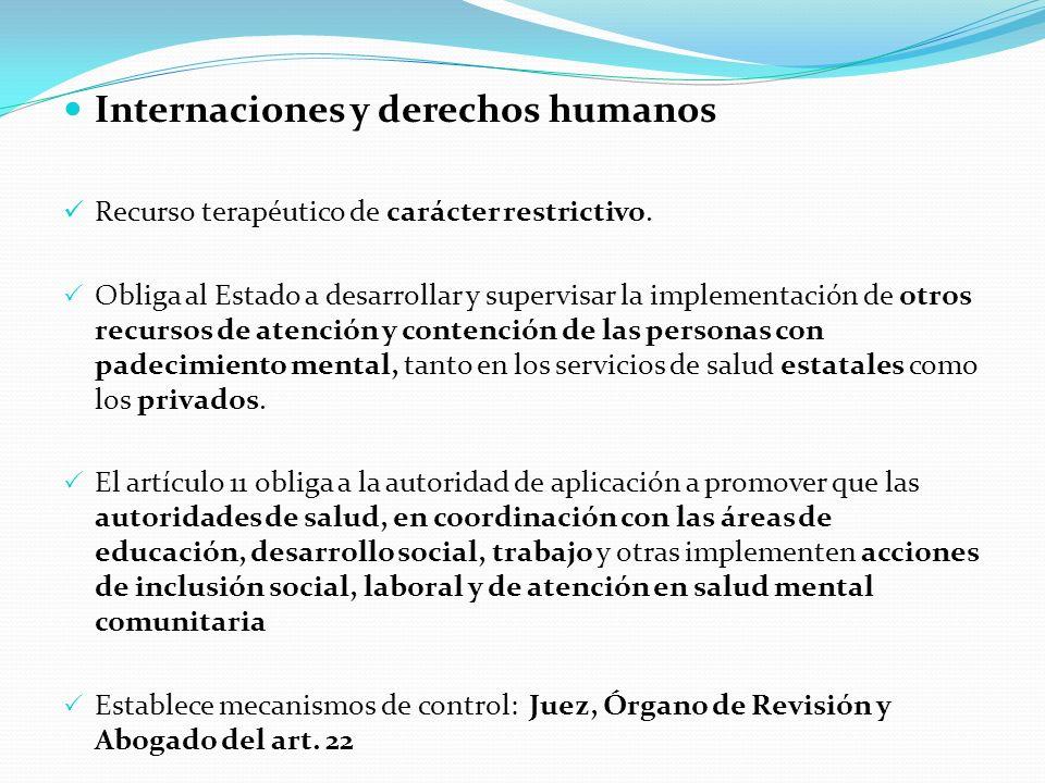 Internaciones y derechos humanos