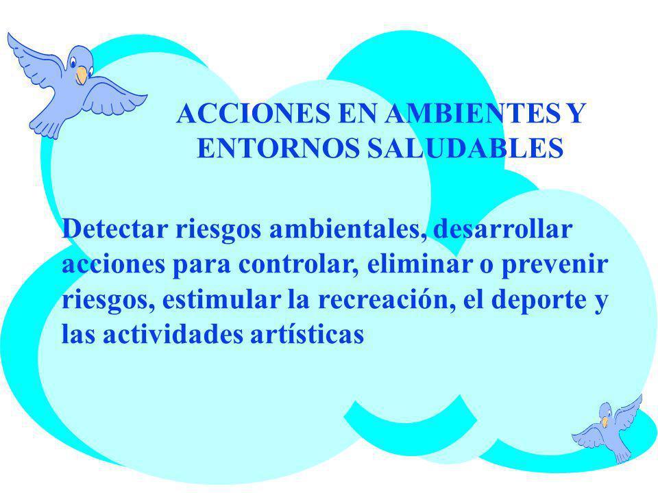 ACCIONES EN AMBIENTES Y ENTORNOS SALUDABLES
